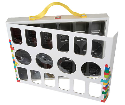 Lego Series Minifigure Storage Carry Display Case Holds 16 Figures 851399