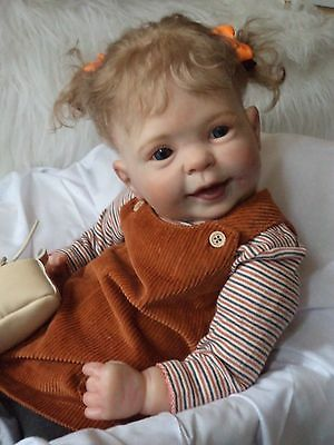 reborn baby big  girl RUBY read info longer hair mixed sculpt read info reduced