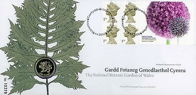 2000 Botanic Garden of Wales Royal Mint stamp and coin cover