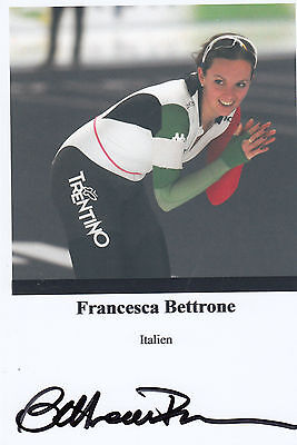 Eisschnellaufen - FRANCESCA BETTRONE   **sign**