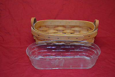 1995 Longaberger Lavender Booking Basket w / plastic protector Retired