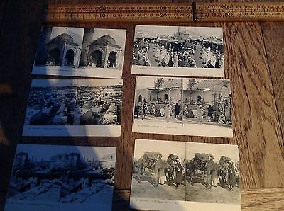 A Group Of Antique Stereoscopic Postcards, Tunisia