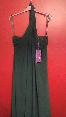New Tags Ever Pretty Long Maxi 1 Shoulder Evening Bridesmaid Party Prom Dress 14
