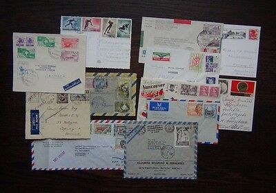 12 Covers Postcards Argentina Russia Cyprus Libya Cameroon Mexico etc