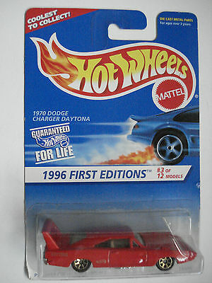 Hot Wheels 1970 Dodge Charger Daytona Collector # 382 Scale: 1:64 Moc 1996