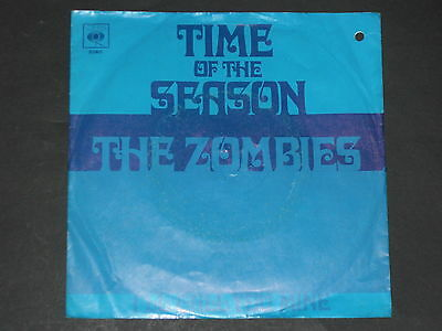 7-Single-Beat-THE ZOMBIES-Time of the season (Coloured Wax)