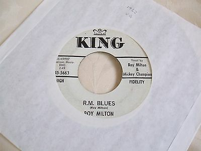 Roy Milton 'R M Blues / Jeeps Blues' US King classic blues 45 vgc