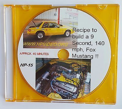 """Budget Building 9 Sec.140 MPH Procharger Fox Body Mustang """"How To"""" Video 'DVD'"""