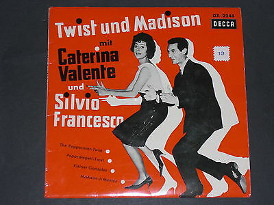 7-Single-Schlager-CATERINA VALENTE und SILVIO FRANCESCO-EP Decca 2245