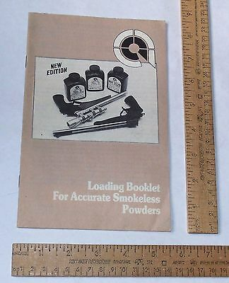Loading Booklet For ACCURATE Smokeless Powders - Paperback BOOKLET - © 1985 2nd