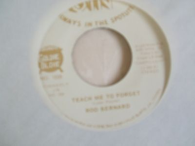 Rod Bernard 'Teach Me To Forget / Congatulations To You' US JIN cajun rock 45 ex