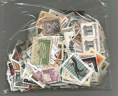 382 Used U.S. Stamps on paper