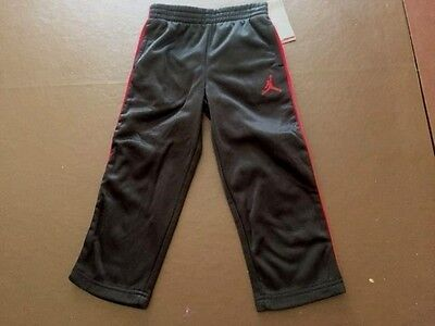 NWT Boy's Toddler Jordan Athletic Pants Therma Black Red 752747-KR5 Size 3T $48