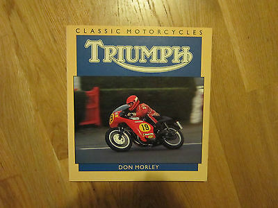 Triumph Classic motorcycles Book - by Don Morley - Osprey Book