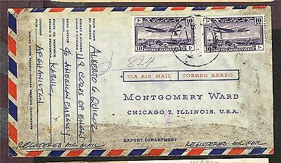 Afghanistan Usa Airmail Registered   (Ast3