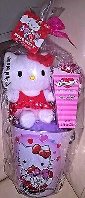 Megatoys HELLO KITTY Valentine's Day 3 Pc Plush, Candy and Tin Can Gift Set