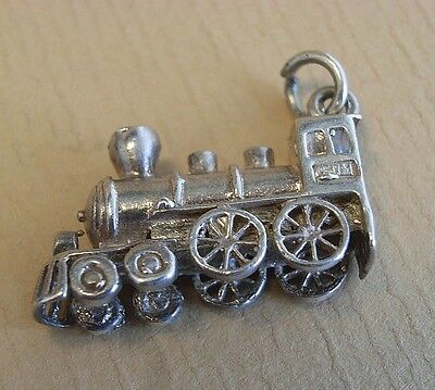 Vintage Silver Train Charm Signed CHIM c.1960's