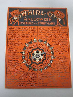 Vintage Whirl-O Halloween Fortune And Stunt Game