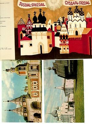 Postcards - Set of 7 of Suzdal , Russia in a lovely folder