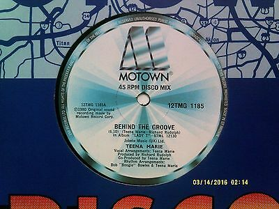 """Teena Marie Behind The Groove 12"""" Single 1980 Excellent"""