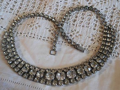 Dazzling Vintage 1950s Clear Crystal Necklace