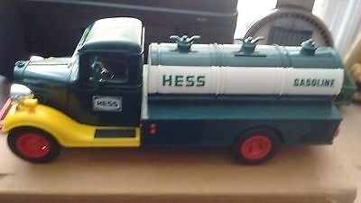 1985 Hess Toy First Truck  Bank- Works lights up-Not the original box