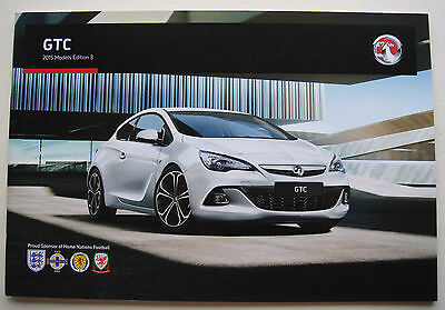 Vauxhall . GTC . 2015 Models Edition 3 . Sales Brochure