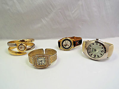 Vintage Lot of 4 Woman's Watches - Need Batteries