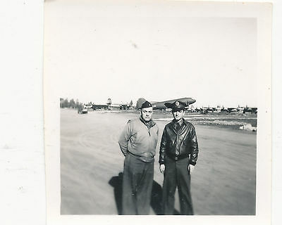 WWII 1944 USAAF 9th Air Force C-47 airplanes  Photo  pilots &  aircrafts