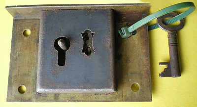 Vintage Brass Secure Lever Lock With One Key Made In England