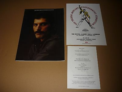 Freddie Mercury Photographic Exhibition Programme + Preview Invite & Flyer