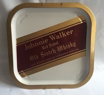 Johnnie Walker Red Label Scotch Whisky Tin Serving Tray Wall Hanging