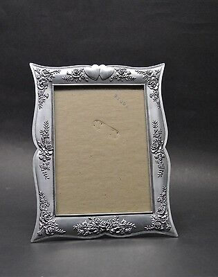 Romantic Seagull Pewter Picture Frame Marilyn's Rose Embossed Hearts and Roses