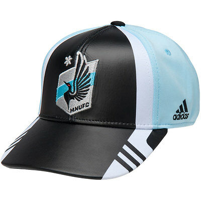 size 40 36861 58053 adidas MLS Minnesota United FC 2017 Adjustable Soccer Hat Cap Soccer Black  Blue
