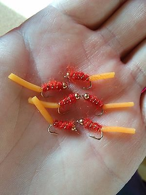 6 Squirmy Worm Trout Buzzers Trout Lures Dry Fly Fishing Trout Flies