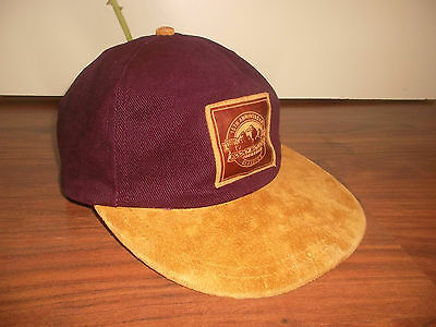 vintage canada ROCKY MOUNTAIN classics Cap bicycles hat Mütze weinrot cord
