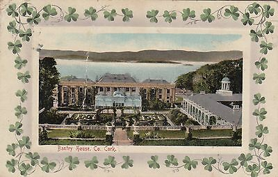 Bantry House Co.cork On 1914 Used Card To Plymouth