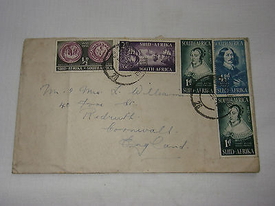 South Africa letter. Used stamps