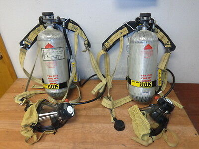 2 SCOTT SCI Air Pack 2216 Pressure Demand Self Contained Breathing Apparatus