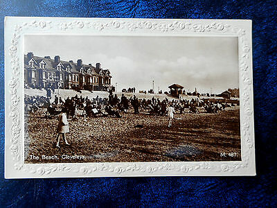 The Beach,Cleveleys,Lancashire. Oversands Private Hotel. Real Photo Postcard