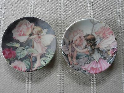 Royal Worcester The Sweet Pea And Rose Flower Fairies 2000 Minature Plate Vgc