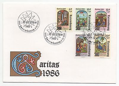 1986 LUXEMBOURG First Day Cover CHRISTMAS Caritas CHARITY