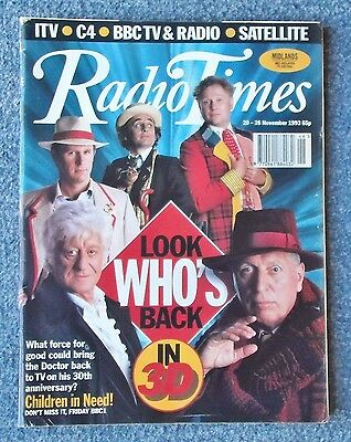 RADIO TIMES 20-26 November 1993 featuring Doctor Who in Children in Need. VGC