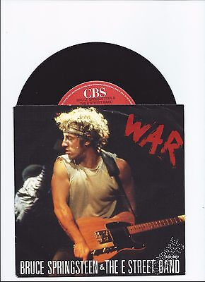 Bruce Springsteen War Live Version Single From Italy Promo Copy