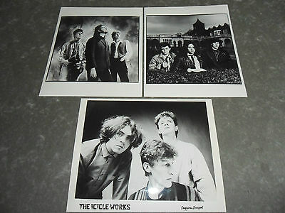 THE ICICLE WORKS - 3 x Original Promotional / Press / Advertising Photographs