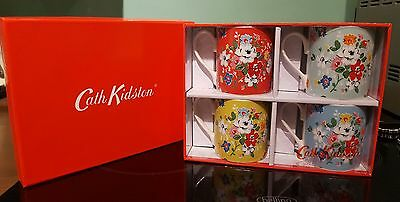 CATH KIDSTON Mugs x 4 ( Assorted ) by CHURCHILL CHINA   -   NEW BOXED GIFT SET !