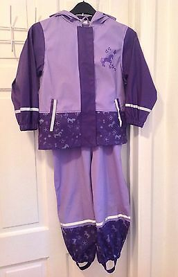 Lupilu Girl's Waterproof 2 Piece Suit Jacket Dungarees Trousers 4-6 yrs