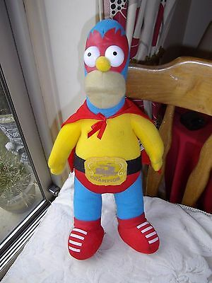 The Simpsons Homer Springfield Wrestling Champion Soft Toy