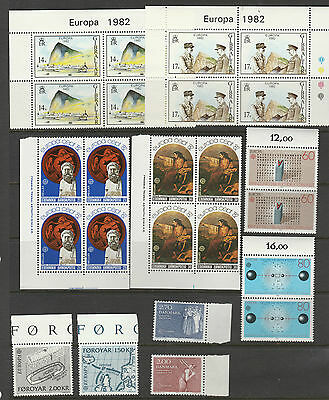 Europa 1981-3 selection of stamps from various countries mostly in blocks, mint
