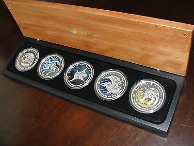 * 2011 Discover Australia Silver Proof Set of Coins Kookaburra Dreaming Series *